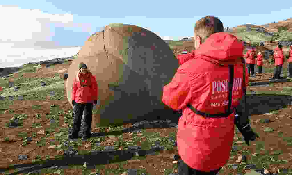 See the mysterious stone spheres on Champ Island (Poseidon Expeditions)