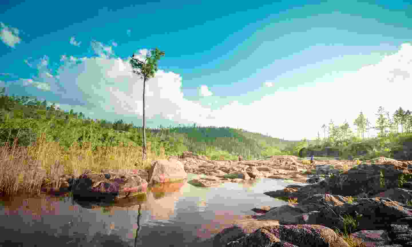 Rio On Pools located in the remote, hard to reach Mountain Pine Ridge Forest, Belize (Shutterstock)