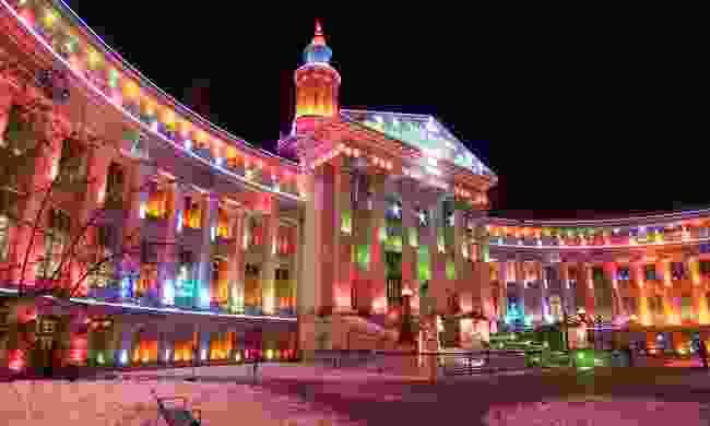 Denver City Hall at Christmas (Shutterstock)
