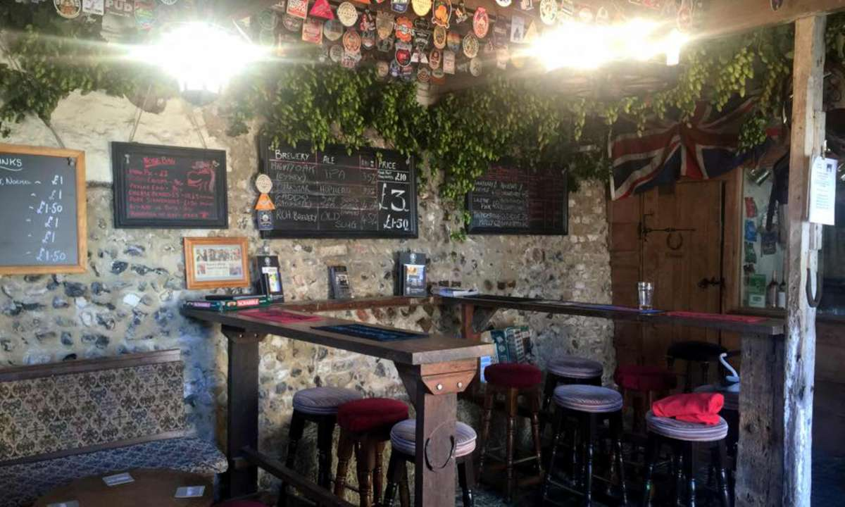 Inside the bar area (Yard of Ale)