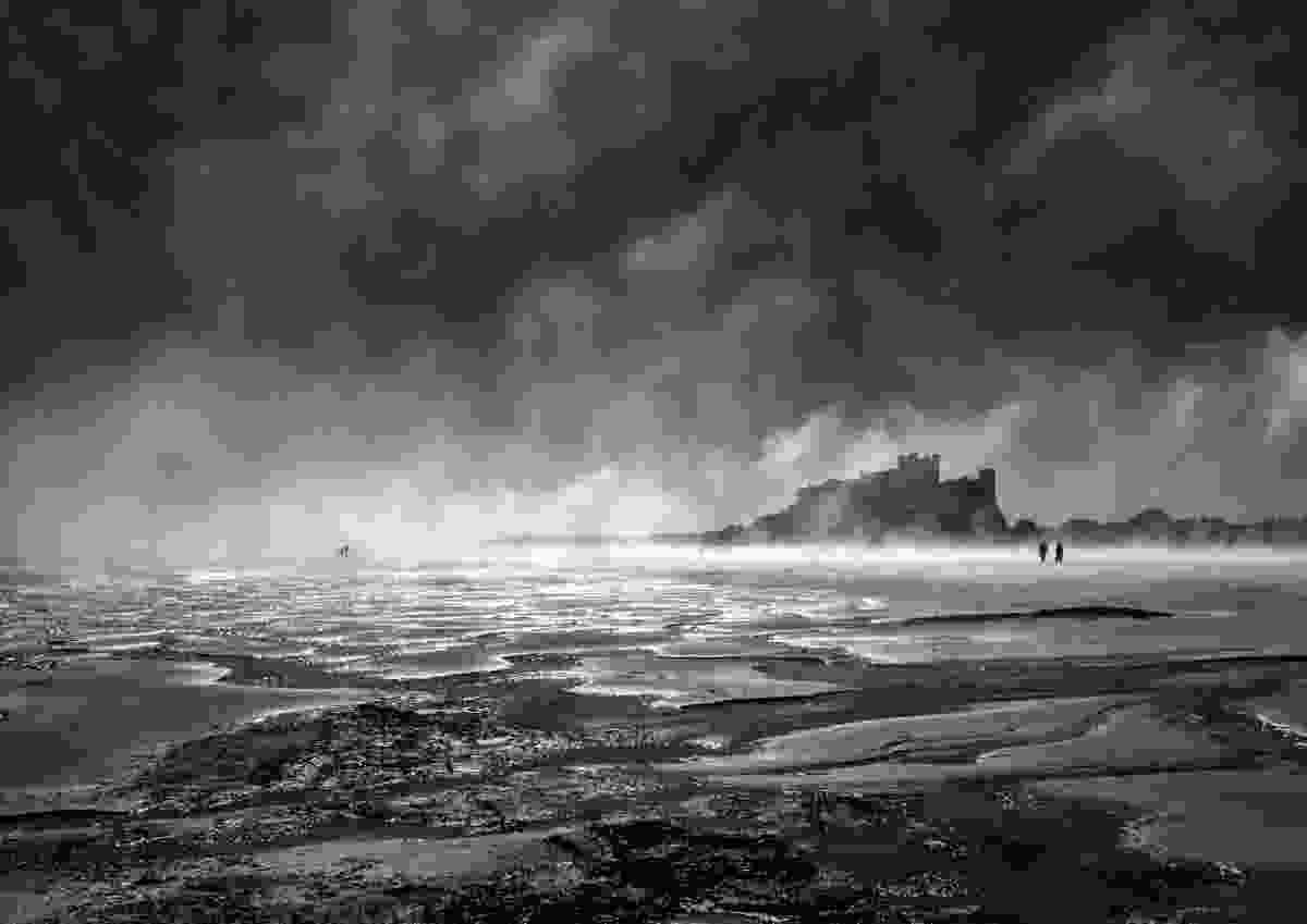 Bamburgh Castle as the sea fog cleared (Sandy Welsh)