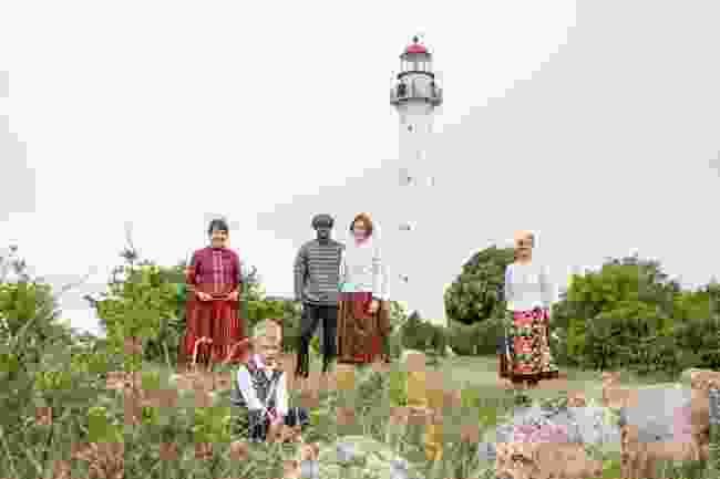 A Kihnu family in Estonia (Renee Altrov)