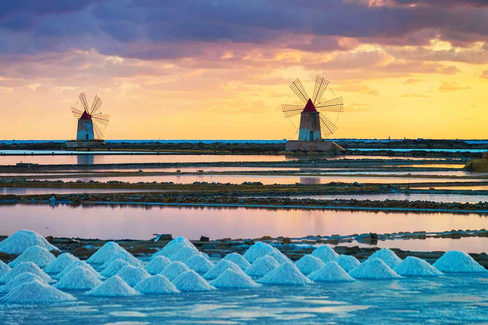 Marsala is also known for its salt pans (Shutterstock)