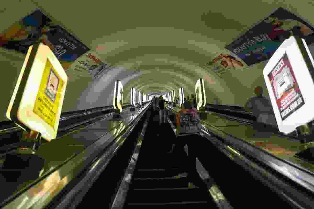 Deep down the deepest rabbit hole in the world, aka Arsenalna Metro, Kiev (Dreamstime)