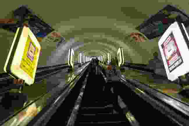 Deep down the deepest rabbit hole in the world, aka Arsenalna Metro, Kiev (Dreamstime)