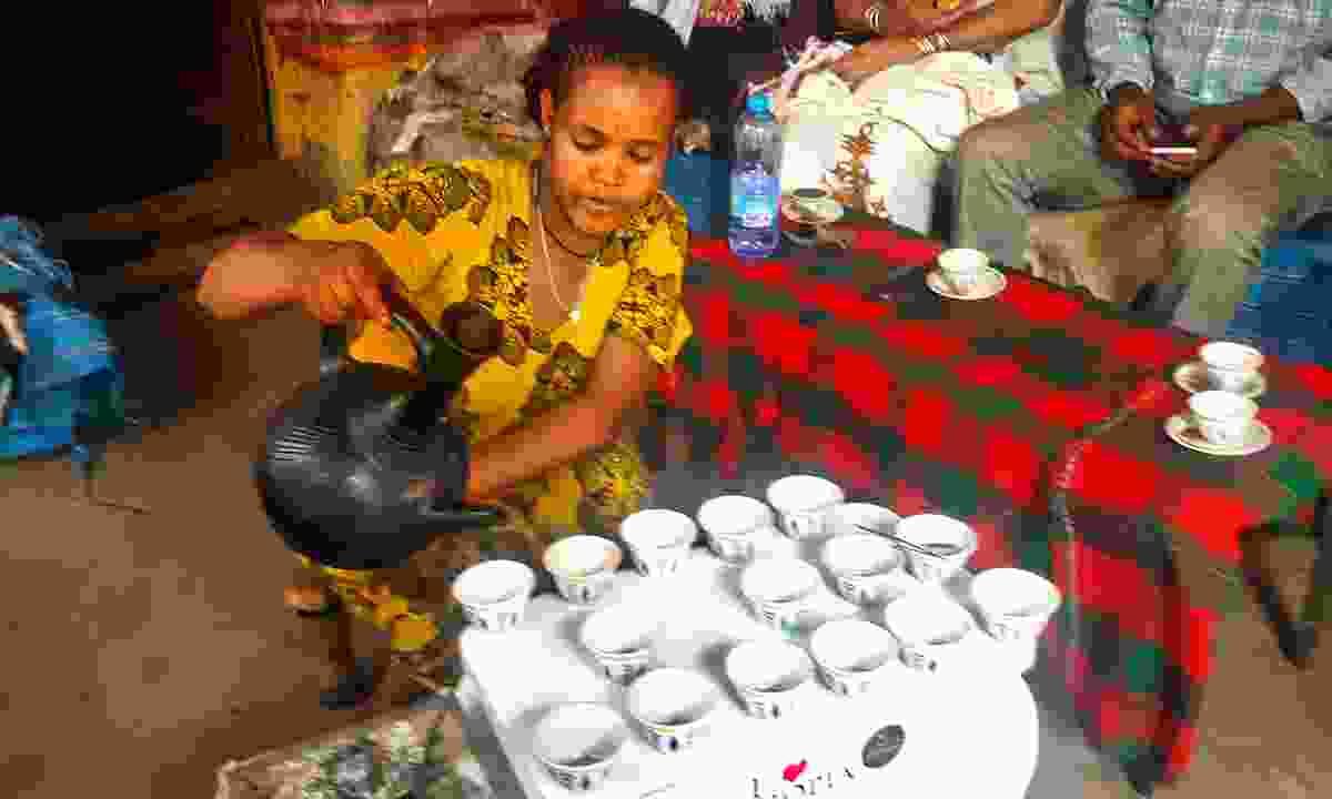 An Ethiopian coffee ceremony (Lynn Houghton)