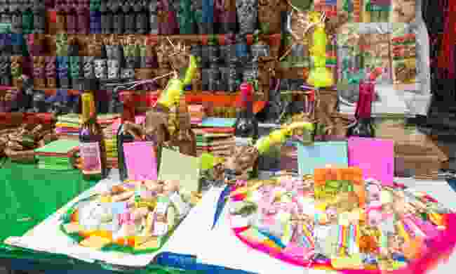 Items for sale at the Witches Market in La Paz (Dreamstime)