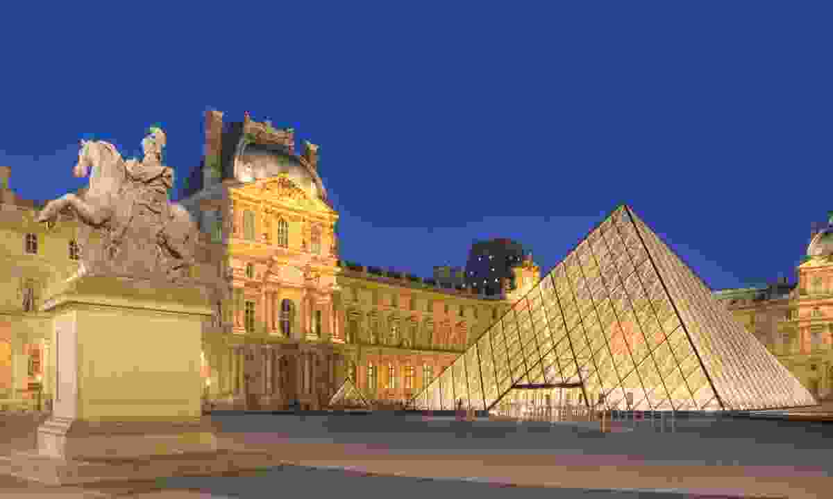 The glass pyramid at the Louvre (Dreamstime)