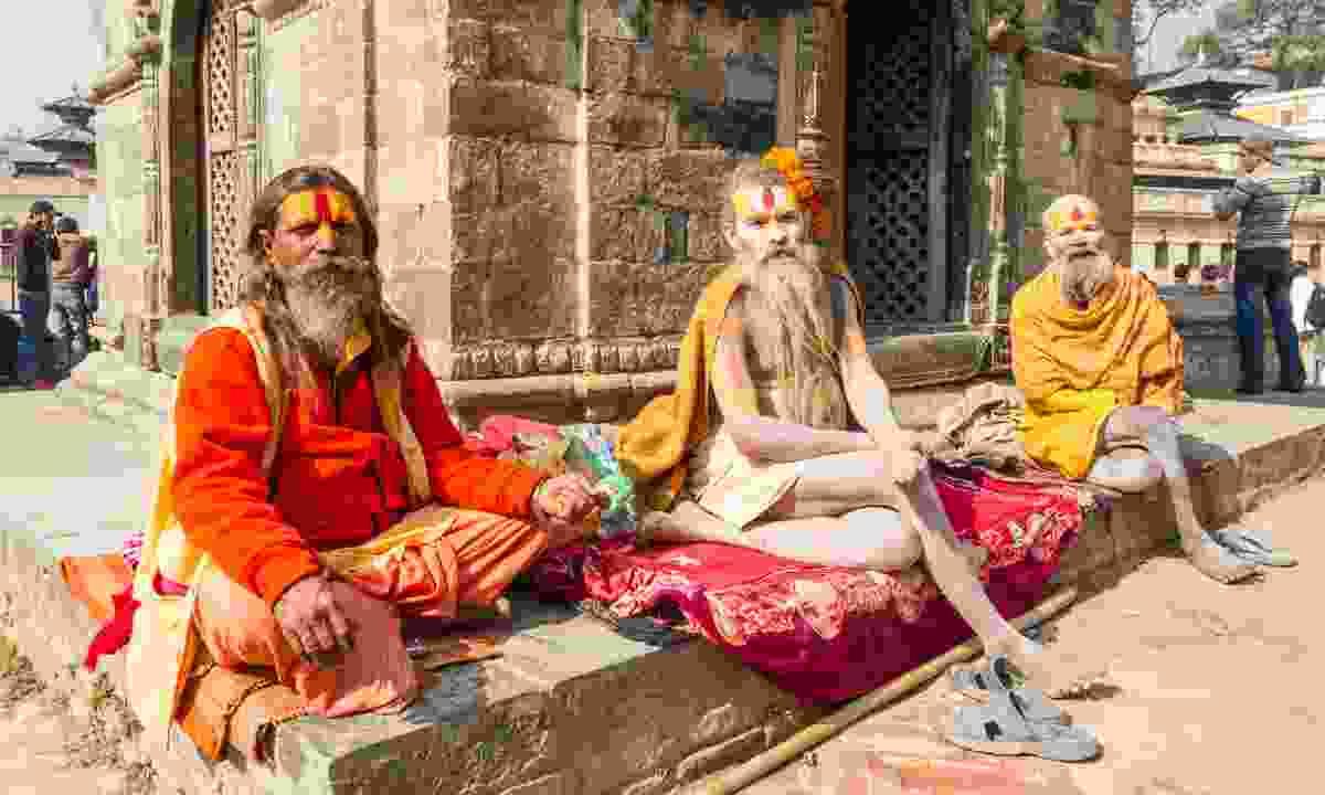 Sadhus in Nepal (Dreamstime)
