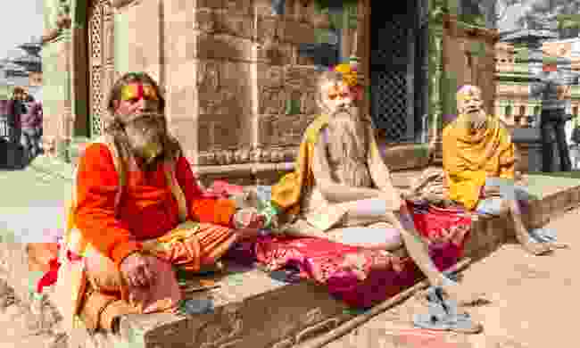 Sadhus in Nepal (Dreamstime)
