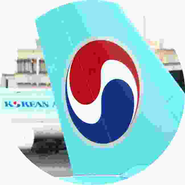 The Taegeuk featured on the Korean Airlines tail fin is the national symbol of the country and is based on the principle of yin and yang (Shutterstock)