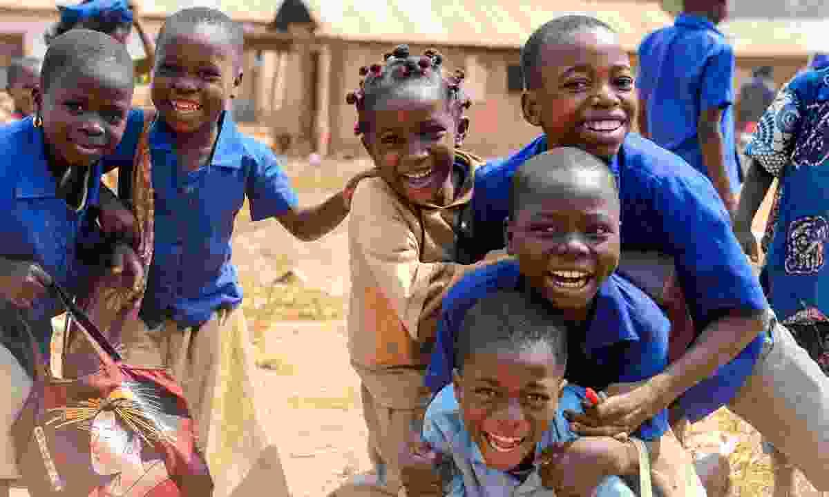 Local school kids in Africa (Shutterstock)
