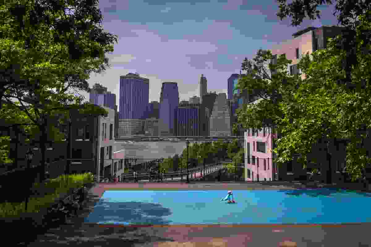 Tennis player, Squib Park, Brooklyn (Richard Koek)