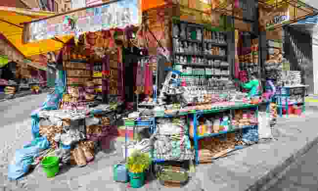 A stall at the Witches' Market (Dreamstime)