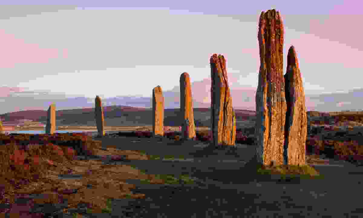 Ring of Brodgar at dusk (Dreamstime)