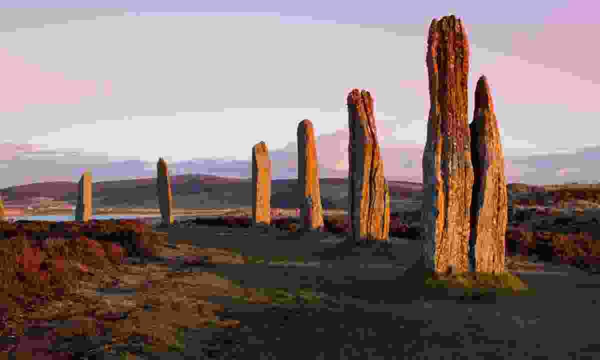 Ring of Brodgar at dusk (Dreamstime)