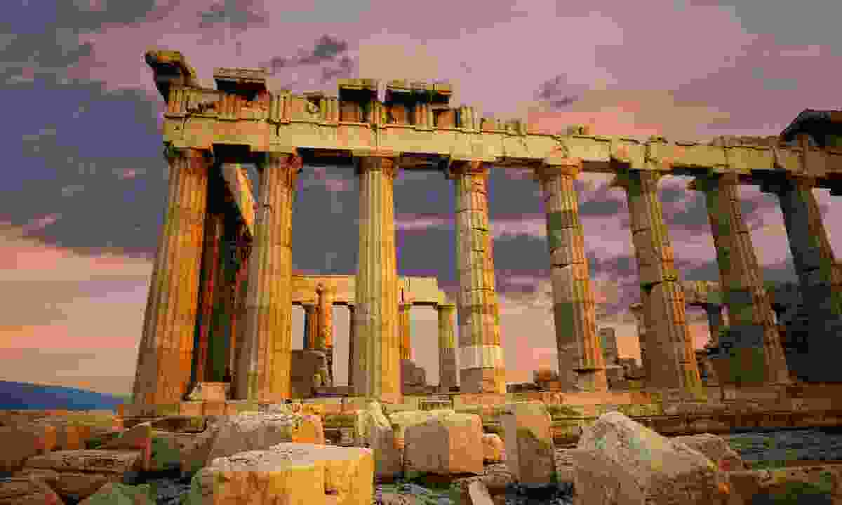 Ruins of the Parthenon on the Greek acropolis (Dreamstime)