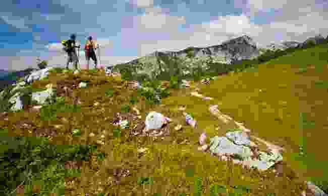 Hikers in Triglav National Park (Slovenian Tourist Board)