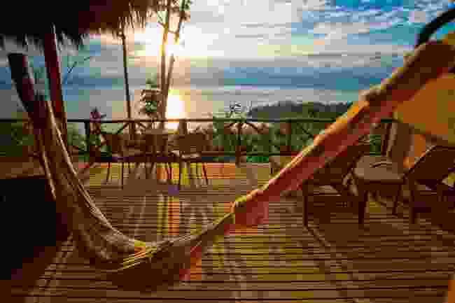 Picture yourself on this deck (Lapa Rios)