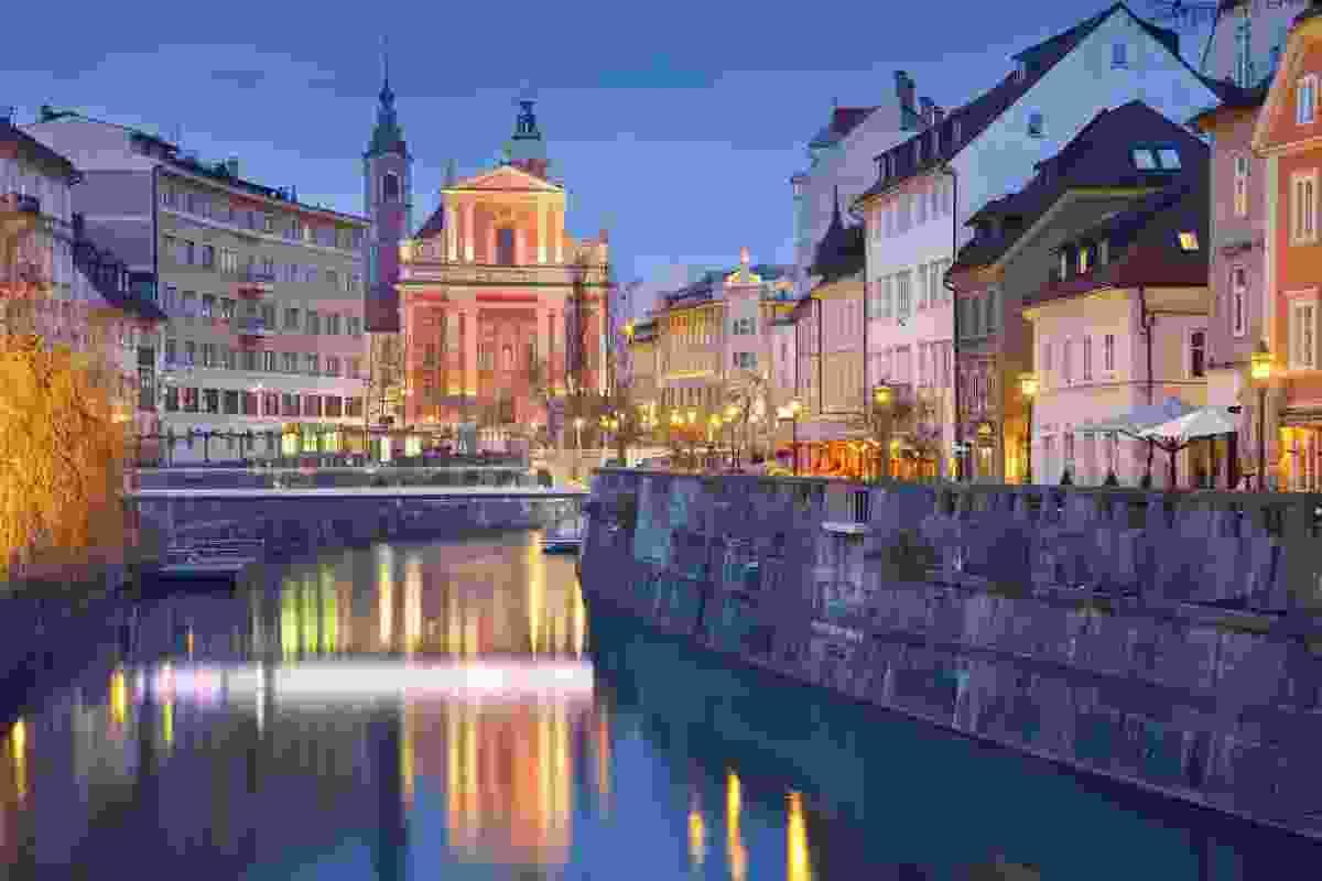 Dusk in Ljubljana (Dreamstime)