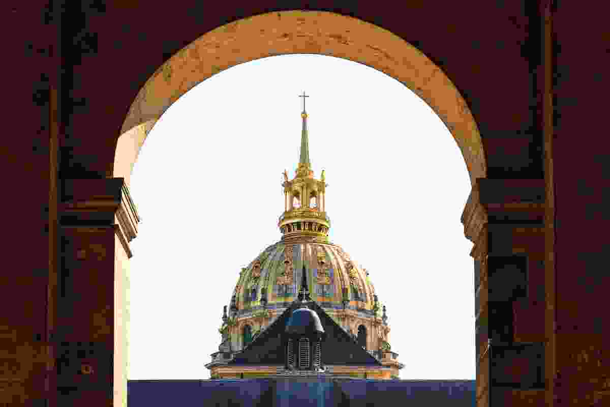 The gold dome of Les Invalides, Paris, France (Shutterstock)