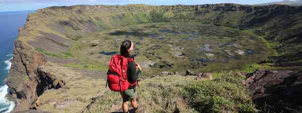 Atop Rano Kau Crater, Easter Island (Phoebe Smith)