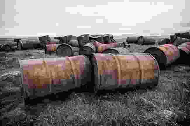 Rusty oil drums on Wrangel Island (Shutterstock)