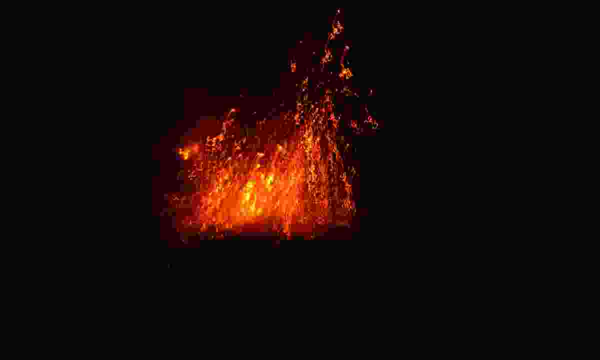 The volcano erupts on Barren Island in the Andamans (Phoebe Smith)