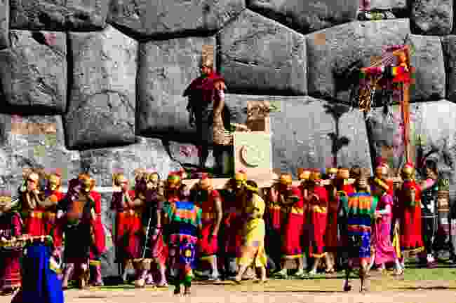The Sun King being carried during Inti Raymi (Shutterstock)