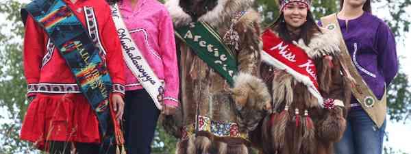 Miss World Eskimo Indian Olympic contestants (Alamy)