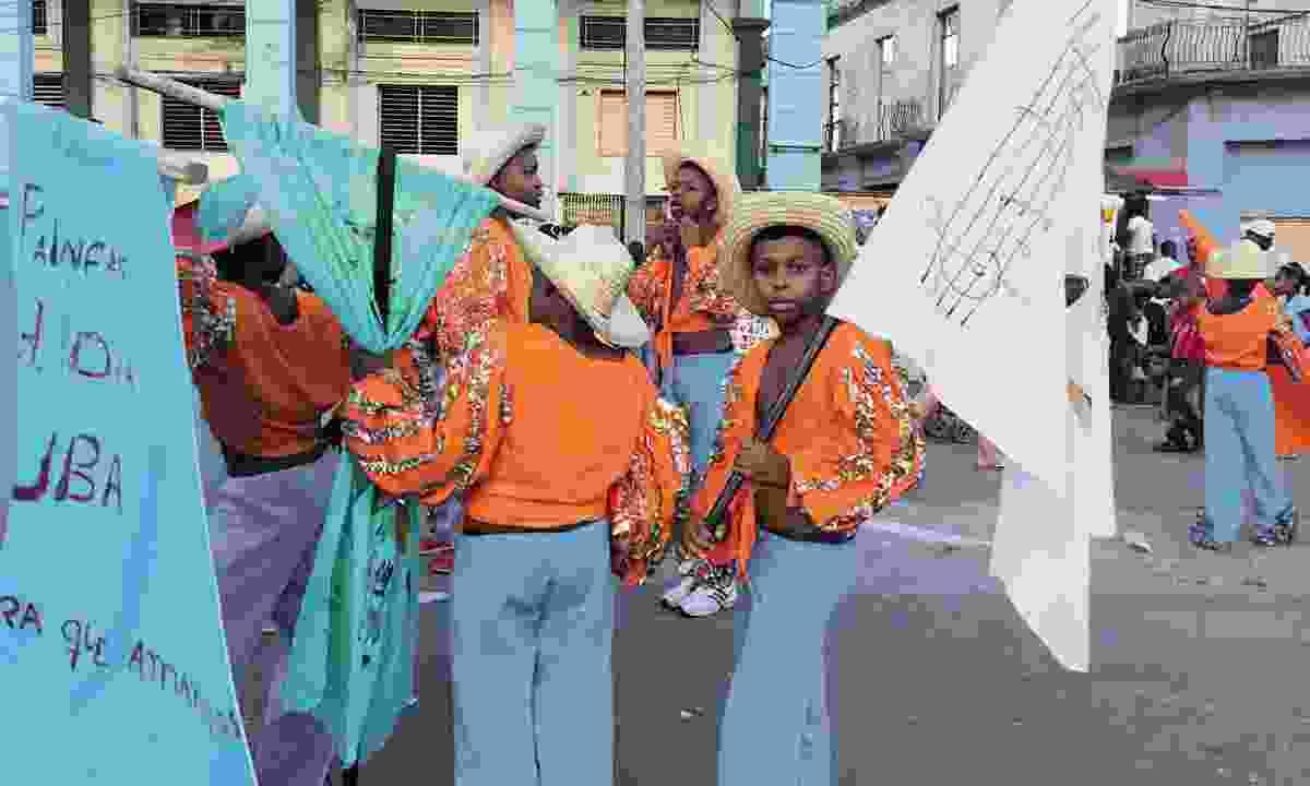 Children's parade, Santiago de Cuba (Claire Boobbyer)