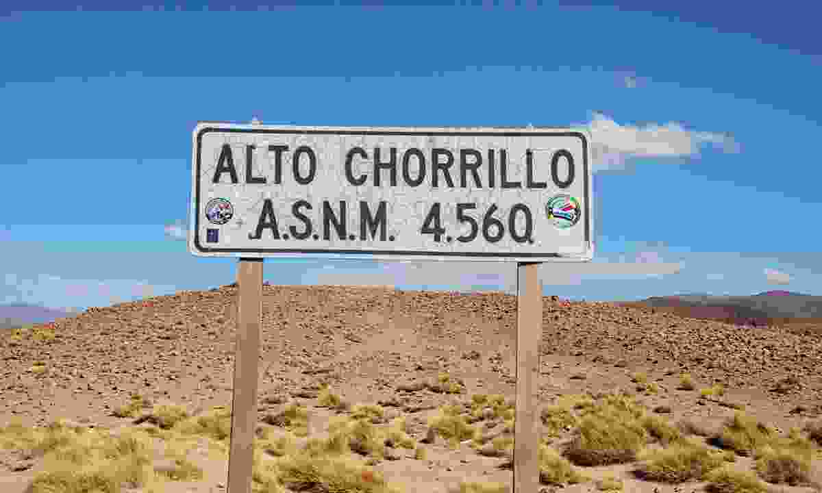Alto Chorrillo sign (Lyn Hughes)