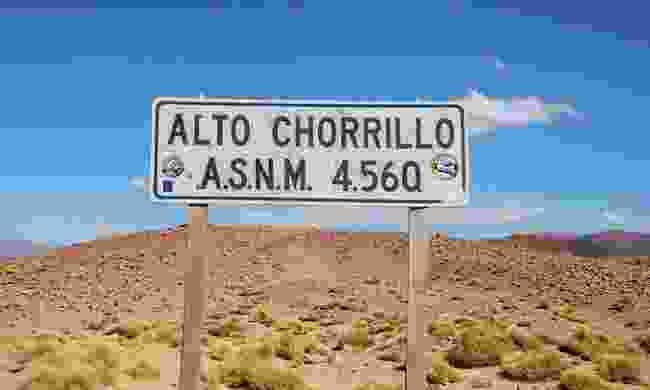 Alto Chorrillo sign (Lyn Hughes)