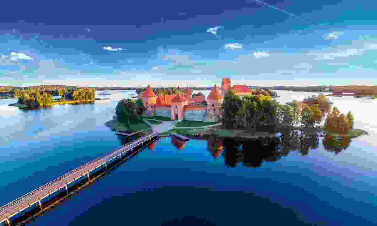 The medieval island castle of Trakai glowers over Galve Lake (Shutterstock)