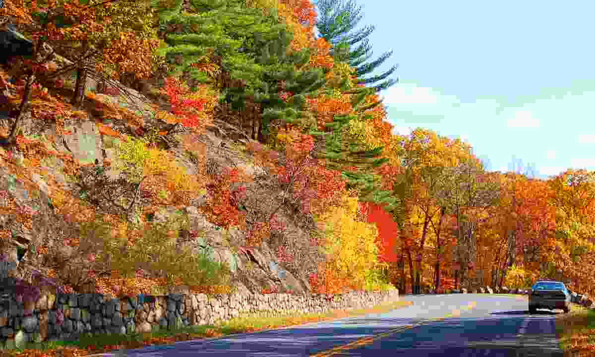 A road in New England in autumn (Dreamstime)