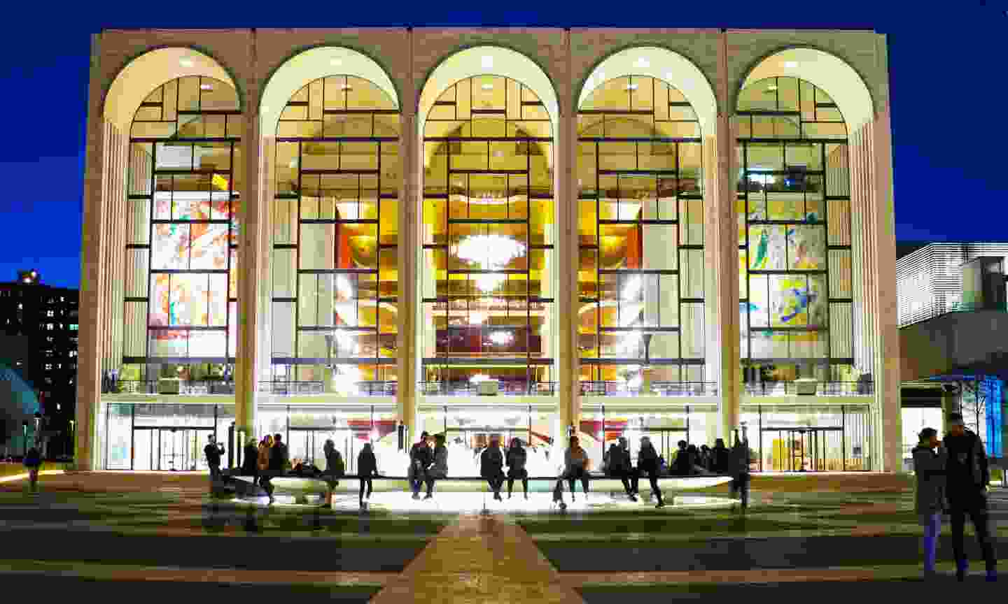 The famous arched windows of the Metropolitan Opera House (Dreamstime)