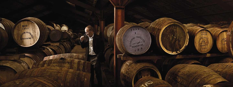Sampling a dram (Glengoyne Distillery)