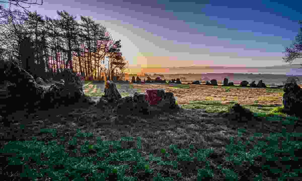 The Kings Men stone circle, one of three monuments that make up the Rollright Stones (Shutterstock)