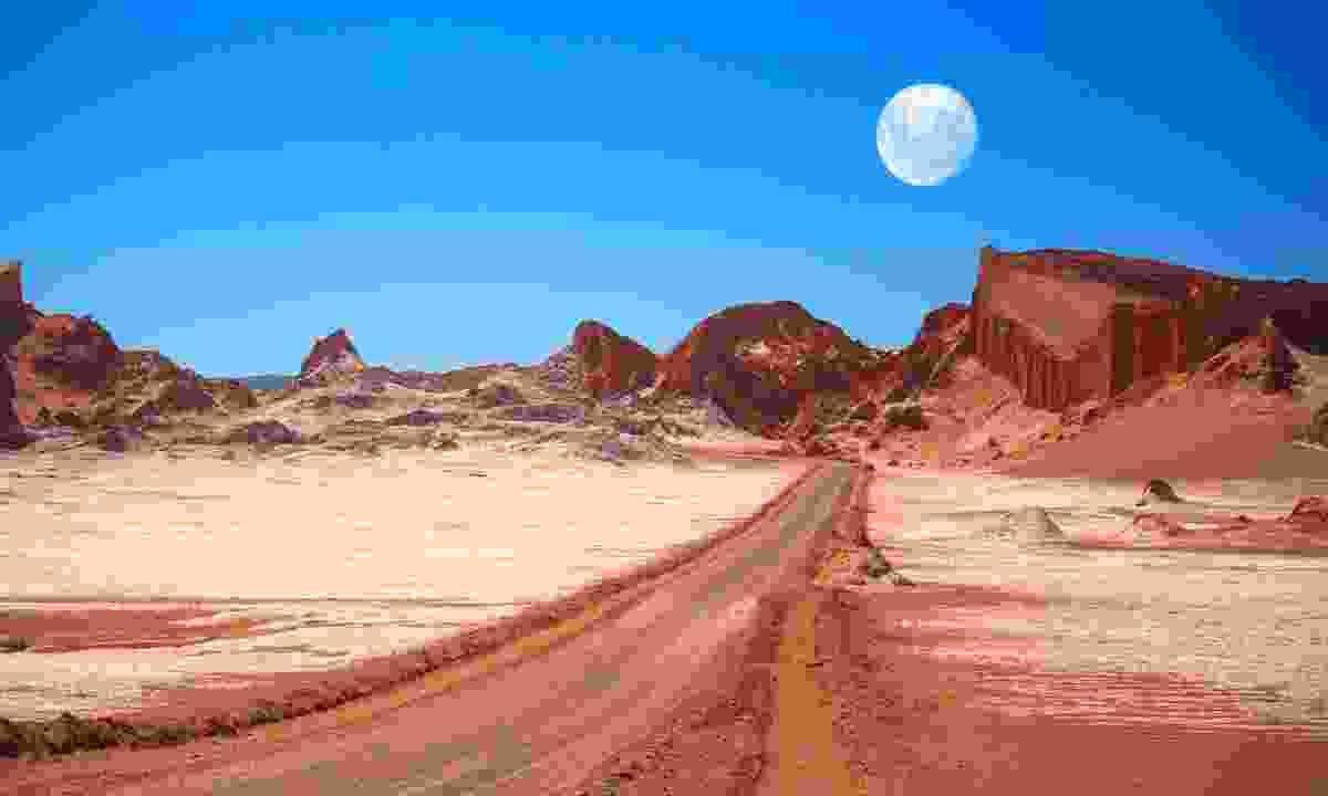 Moon Valley in the Atacama Desert (Shuterstock)