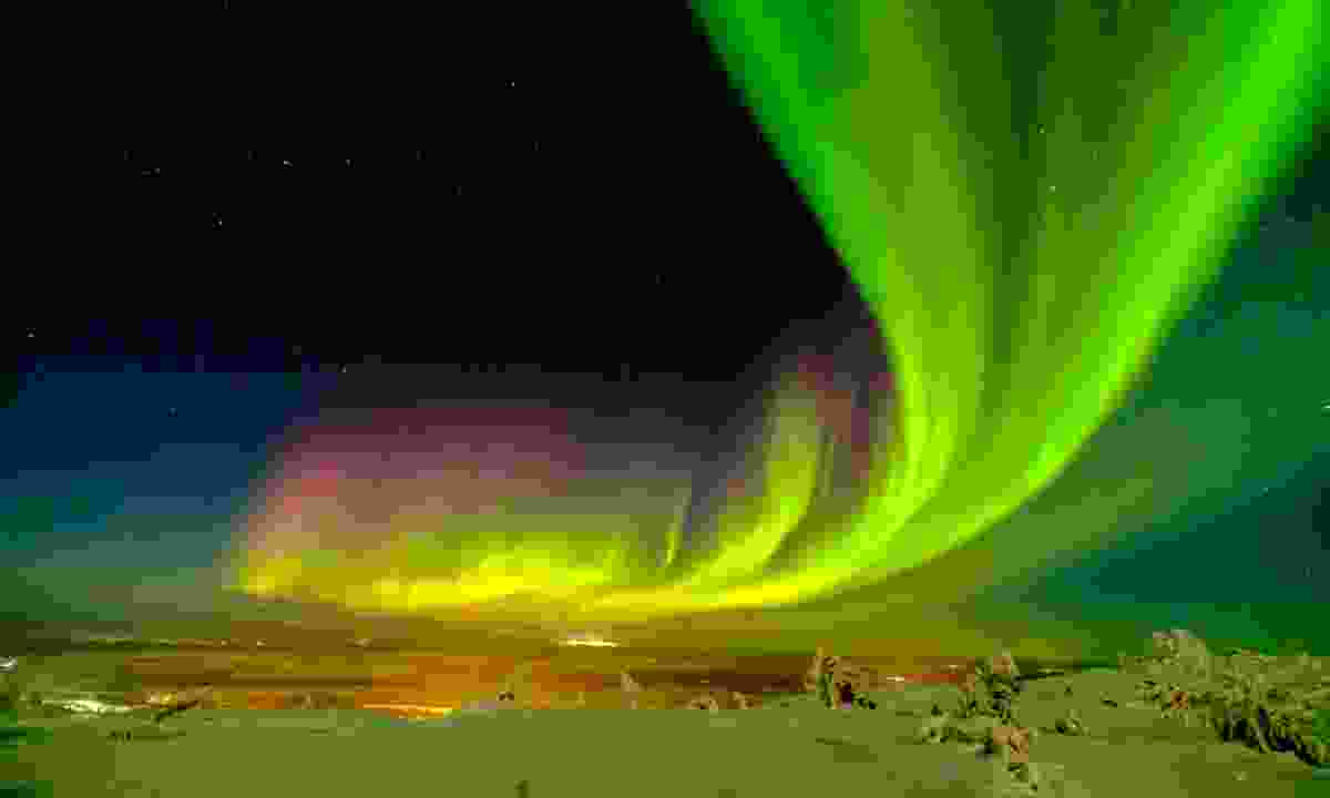The northern lights over Levi (Shutterstock)