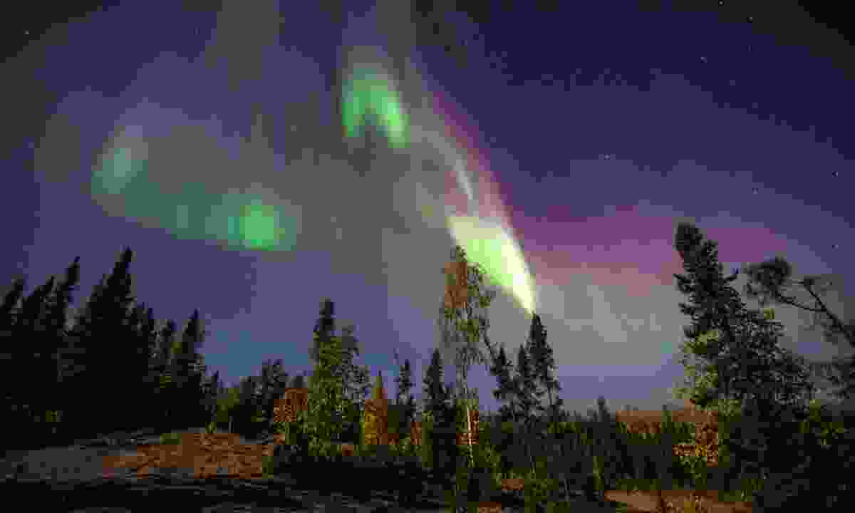 Northern lights can be spotted near Yellowknife (Dreamstime)