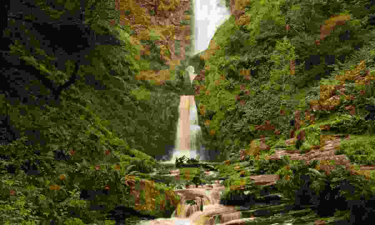 The 74 metres high Pistyll Rhaeadr waterfall in the Berwyn Hills is higher than the Niagra Falls (Dreamstime)