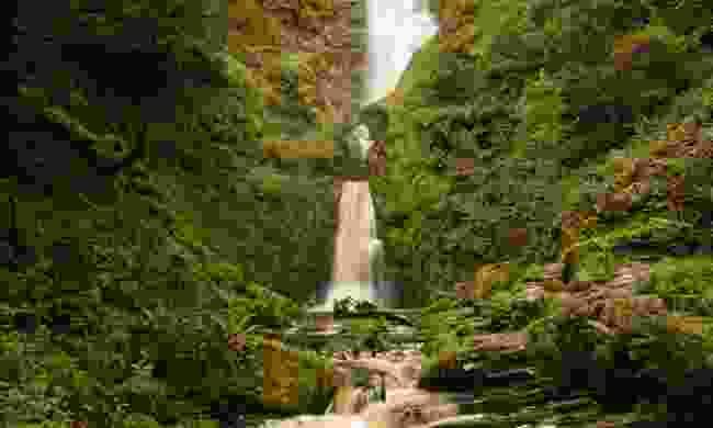 The 74 metres high Pistyll Rhaeadr waterfall in the Berwyn Hills is higher than the Niagra Falls (Dreamstime)