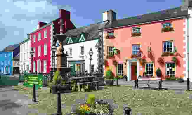 Colourful houses at Llandovery (Shutterstock)