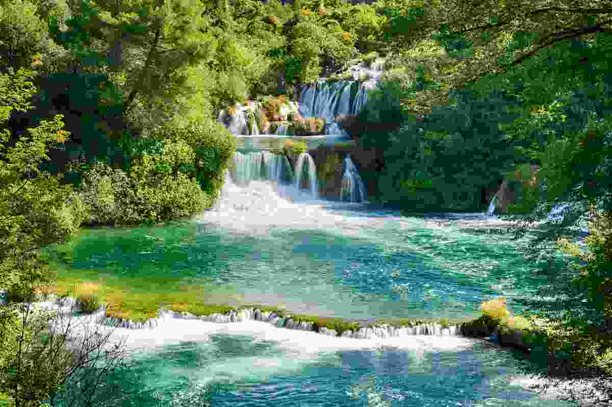 Krka's famous, and very swimmable, Skradinski Buk waterfall (Dreamstime)