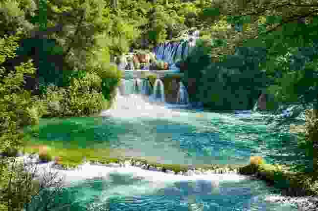 Krka's famous, and very swimmable, Skradinski Buk waterfall (Dreamstime)