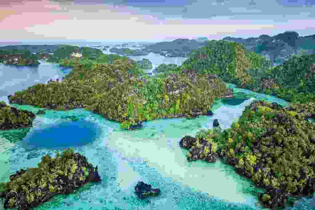 Raja Ampat's limestone karst islands and turquoise bays (Alex Robinson)