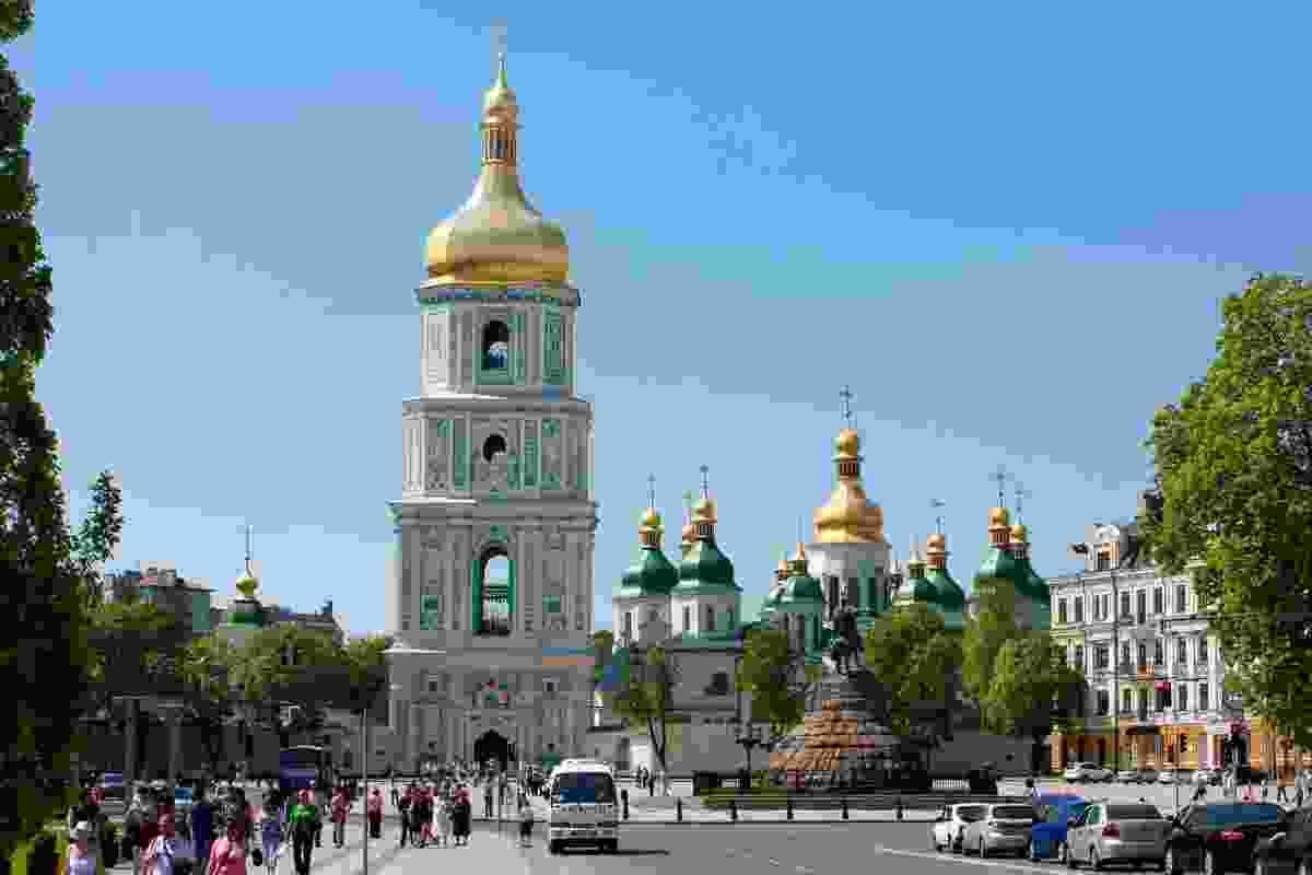 St Sophia's Cathedral Square, in Kiev, Ukraine (Dreamstime)