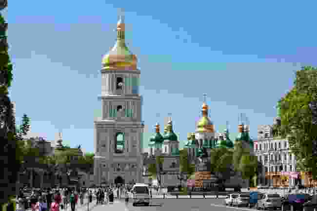 St Sophia's Cathedral Square, in Kiev, Ukraine (Dreamstime)