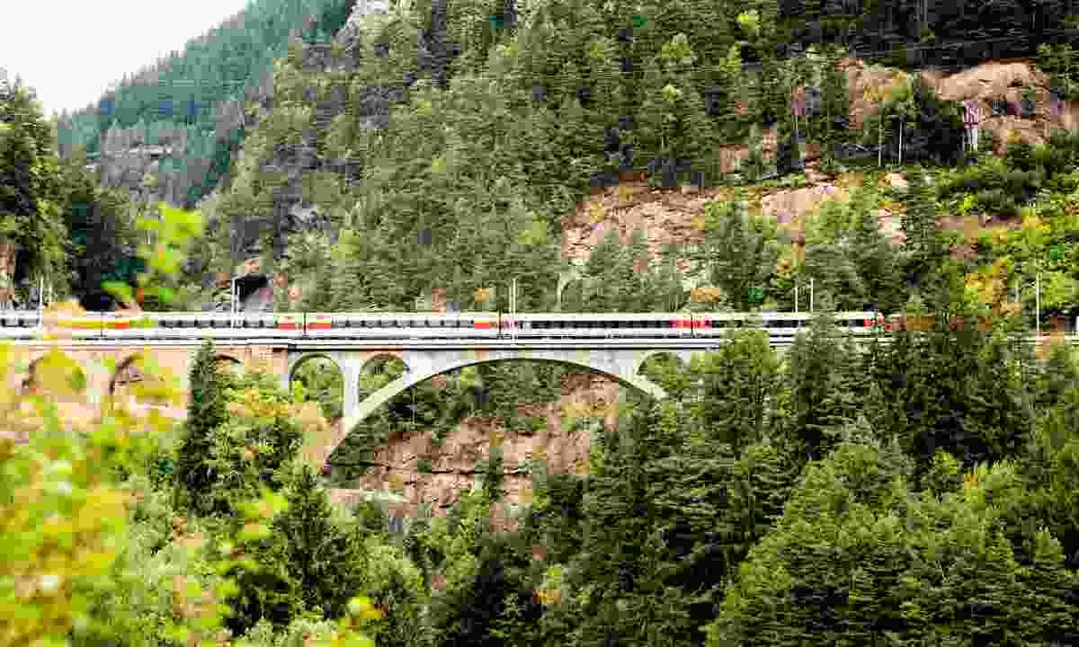 The Gotthard Panorama Express (Lucerne Tourism Board)